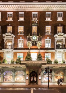 London, England - November 13, 2014: Fortnum and Mason shops at Picadilly Street, London, decorated for Christmas and New 2015 Year, England, Uk