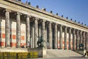 Berlin, Germany -November 13, 2011: The Altes Museum on Museum Island. It is a neoclassic building by architect Schinkel. It was built in 1830 for the art collection of the royal Hohenzollerns