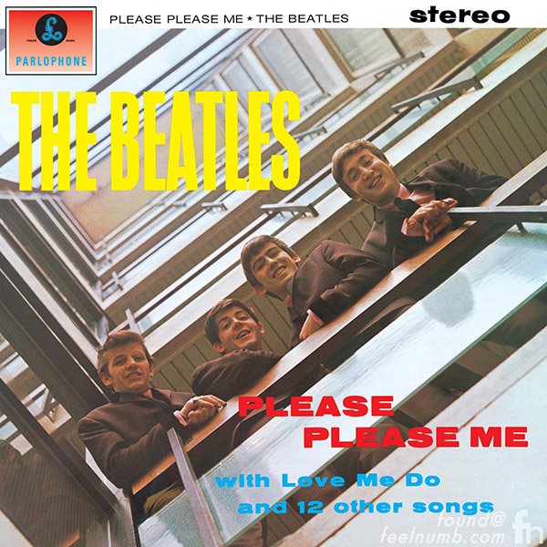 Portada de Please Please Me de The Beatles