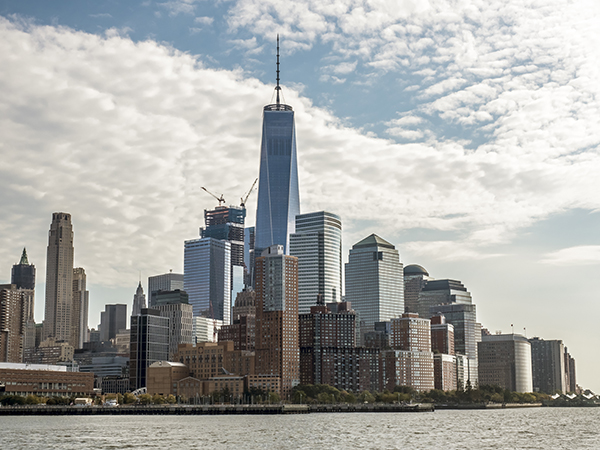 Vista del Downtown de Nueva York con el One World Trade Center